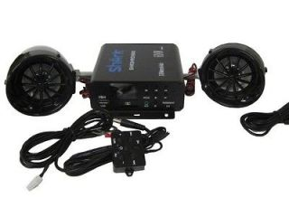 shark 600 watt harley style motorcycle audio speakers. Aux , usb, sd