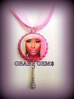 Nicki Minaj Pink Friday Bottle Cap Charm Necklace w/ Chain Option