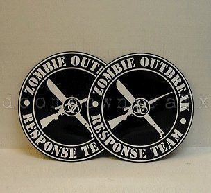 ZOMBIE OUTBREAK RESPONSE TEAM ~ 2 MAGNETIC CAR SIGNS Walking Dead