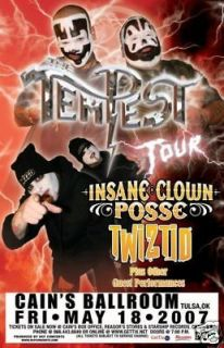 insane clown posse rare twiztid concert poster time left $