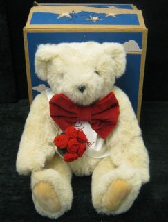 Vintage Vermont Teddy Bear Co. Valentine Teddy Bear Original Box See