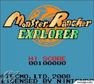 Monster Rancher Explorer Nintendo Game Boy Color, 2000