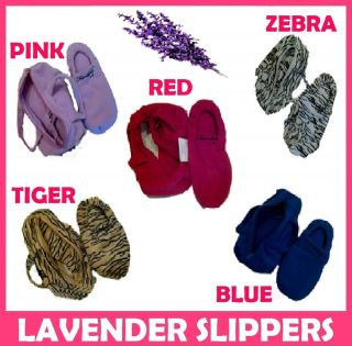 FUNDALS ADULT MICROWAVABLE LAVENDER SCENTED SLIPPERS HEAT WARM FOOT