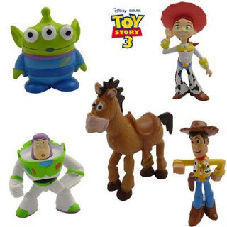 5x disney toy story woody buzz green man mini figure
