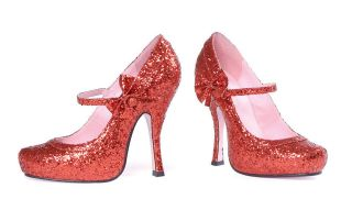 ruby slippers glitter red mary jane shoes burlesque