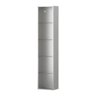 grundtal wall shelf stainless steel metal silver bathroom designer