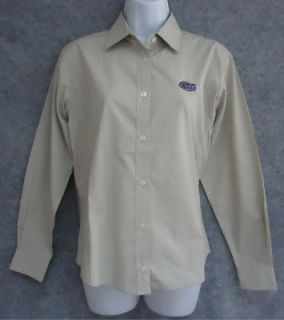 NEW VANTAGE Florida Gators Button Down Womens Shirt Top Size S M
