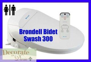 BRONDELL 300 BIDET TOILET SEAT ROUND Swash w/Remote Heated Water/Seat