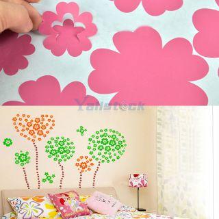 Pcs Fashion Flower Removable Wall Decor Sticker DIY Art Custom Pretty