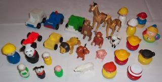 of Assorted FISHER PRICE LITTLE PEOPLE Toy People, Animals, Vehicles++