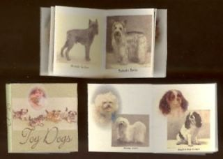 dollhouse miniature book toy dogs 1 12 th scale from