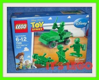 disney toy story lego army men on patrol nip 7595