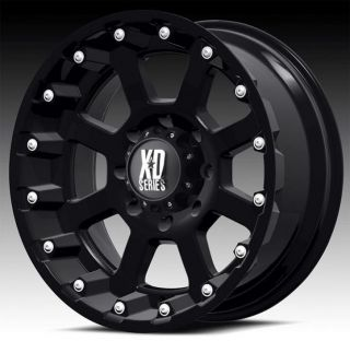 17 inch 17x9 KMC XD black wheels rims 6x5.5 6x139.7 sequoia tacoma