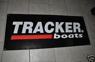 tracker boats banner 47 20 with 2 stickers decal bass  35