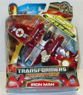 Iron Man War Machine Transformers Crossover Rare Jet Free Ship w