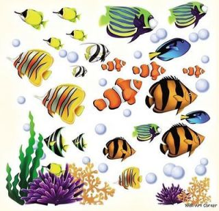 CC Sea World Tropical Fish & Coral Reef Kids Room Wall Art Sticker