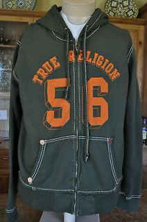 NEW AUTHENTIC TRUE RELIGION CLASSIC 56 HOODIE ARMY size S $172