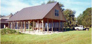 30x40 Pole Barn W Metal Roofing Steel Truss Best Deal