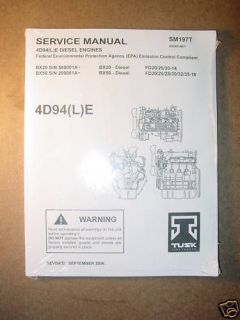 tusk service manual sm197t for 4d94 l e diesel engines