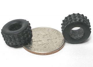1pr 1989 tyco bandit ho slot car rear knobby tires