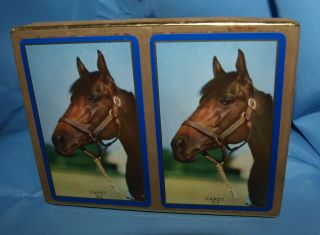 PREAKNESS WINNER 1949 HORSE #201 CONGRESS CANASTA 2 SET B0X CARDS