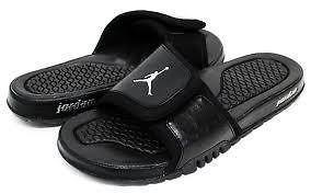 8652824996a198 NIKE JORDAN HYDRO 2 Black Metallic Silver 312527 001 Sandal Slide ...