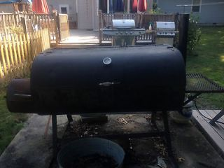 LARGE CUSTOM BBQ SMOKER GRILL WITH SIDE FIRE BOX BIG ENOUGH FOR WHOLE