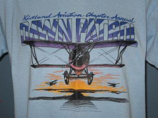 KIRTLAND AVIATION DAWN PATROL US AIR FORCE T Shirt MEDIUM/LARGE soft