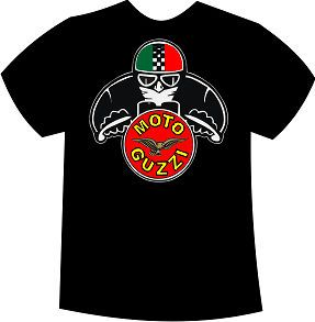 moto guzzi retro cafe motorcycle tshirt all sizes