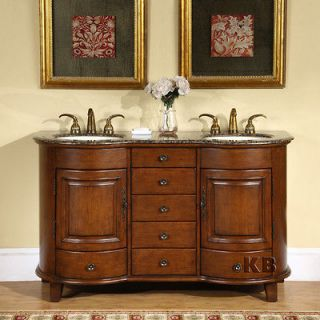 Newly listed 59 Double Sink Bathroom Vanity Cabinet Granite Stone Top