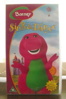 barney sing and dance vhs video 2002  2 01