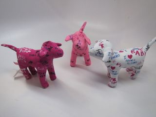 new victoria secret pink graffiti collectible dogs