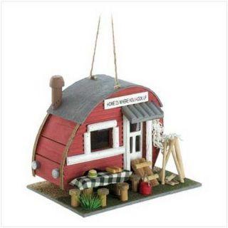 vintage trailer birdhouse park camper bird house new time left