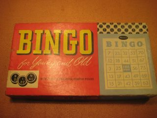 whitman vintage bingo board game for young and old great