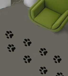 dog paw prints set floor walls vinyl sticker decal more options colour