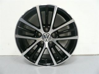 VW Volkswagen OEM 17 inch 5 Triple Spoke Onyx Alloy Wheel w/ Black