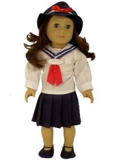 NEW 18 DOLL CLOTHES FOR AMERICAN GIRL MOLLY RUTHIE SKIRT,HAT,BLOUSE