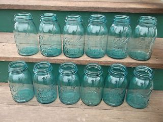 12 Antique Blue Ball Perfect Mason Jars   12 Qt   Wedding