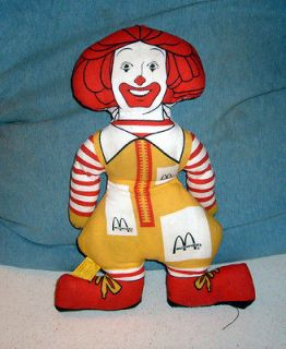 Vintage RONALD MCDONALD 13 Cloth DOLL McDonalds Free Shipping!