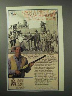 1986 Texas Wagon Train Winchester 94 Commemorative Rifle Ad   Walt