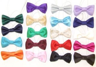 kids satin wedding bow tie elastic band baby toddler more