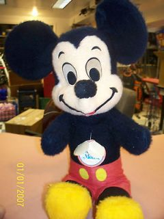 Vintage Walt Disney Mickey Mouse Stuffed Plush 24 Doll With Original