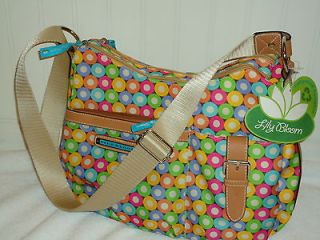 nwt lily bloom spheres circles shoulder handbag purse bag