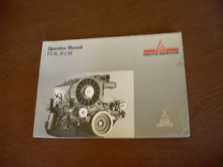 DEUTZ F3 6L 912/W 912 OPERATION AIR COOLED DIESEL ENGINE MANUAL