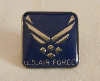 air force pin blue with silver wings time