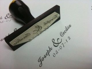 personalized custom made wedding mounted rubber stamps from malaysia