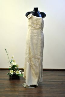 UK 16 LINEA RAFFAELLI VINTAGE STYLE BOHO BEACH Wedding Dress was £825