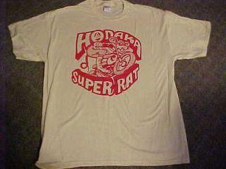 Vintage HODAKA SUPER RAT Design T Shirt in Silk Screen size XXLg