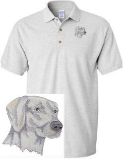 WEIMARANER DOG & CAT SHIRT SPORTS GOLF EMBROIDERED EMBROIDERY POLO
