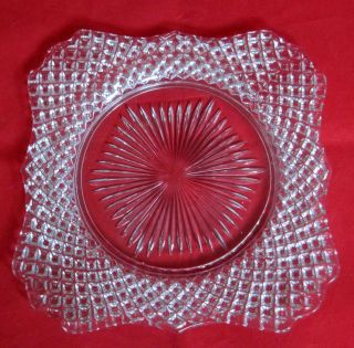 Westmoreland English Hobnail Clear Glass 9 1/8 Square Plate